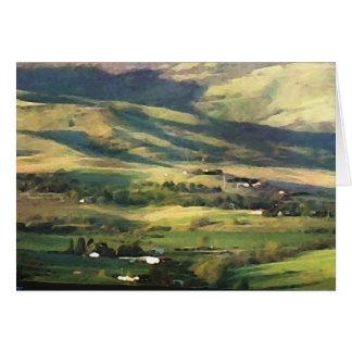 Cartão vazio das colinas de Ashland