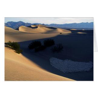 Cartão vazio das dunas da manhã do Vale da Morte