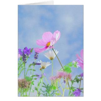 Cartão vazio das flores selvagens