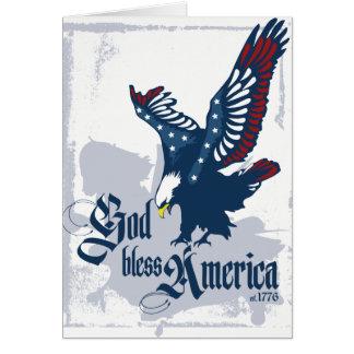 Cartão vazio de América dos deus abençoe