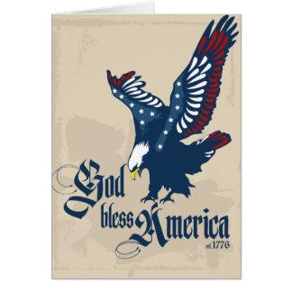 Cartão vazio de América dos deus abençoe em Tan