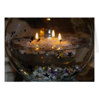 Cartão vazio de flutuação das velas