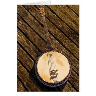 Cartão vazio de instrumento musical do banjo