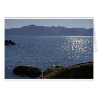Cartão vazio de Lake Tahoe