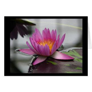 Cartão vazio de Lotus (vertical)