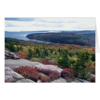 Cartão vazio de parque nacional do Acadia