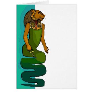 Cartão vazio de Sekhmet