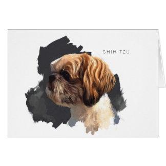 Cartão vazio de Shih Tzu