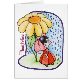 Cartão vazio de Thumbelina