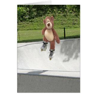 Cartão vazio de urso de ursinho