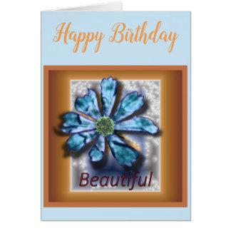 """Cartão vazio do aniversário do cosmos """"bonito"""""""