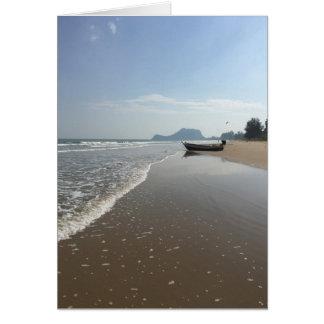 Cartão vazio do barco da praia de Tailândia