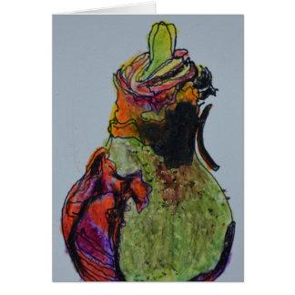 Cartão vazio do bulbo do Amaryllis