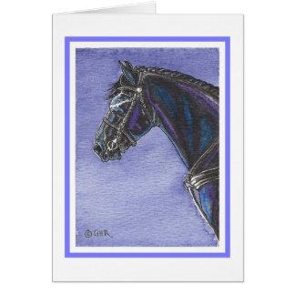 Cartão vazio do cavalo do frisão