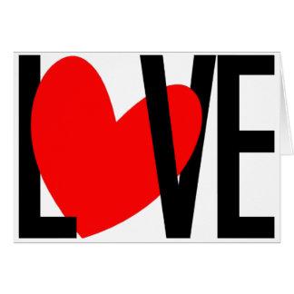 Cartão vazio do coração do amor