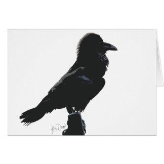 Cartão vazio do corvo