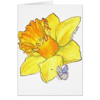 Cartão vazio do Daffodil