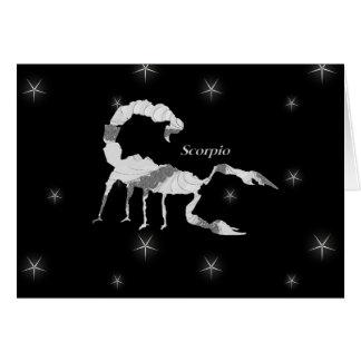 Cartão Vazio do design do zodíaco do escorpião da