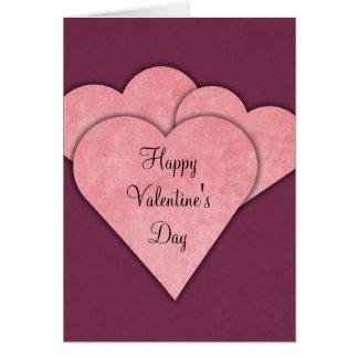 Cartão vazio do feliz dia dos namorados