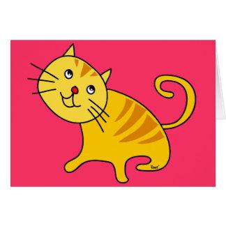 Cartão vazio do gato tímido