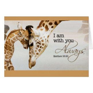 Cartão vazio do girafa