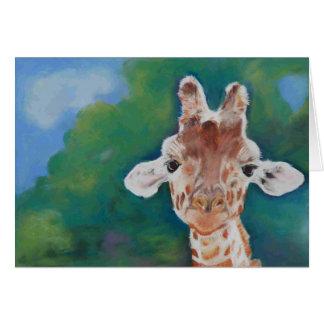 Cartão vazio do girafa do bebê