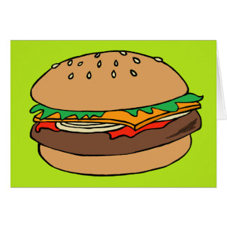 Cartão vazio do Hamburger