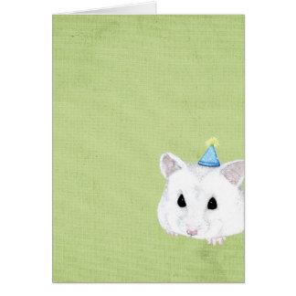 cartão vazio do hamster