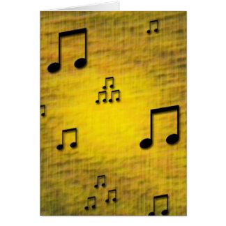 Cartão vazio do jazz amarelo