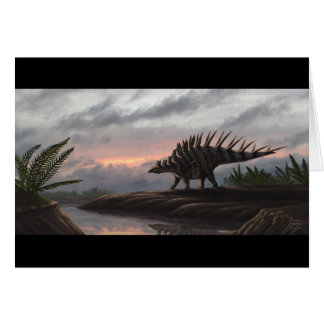 Cartão vazio do Kentrosaurus