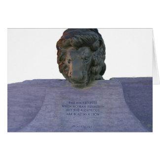 Cartão vazio do memorial da polícia