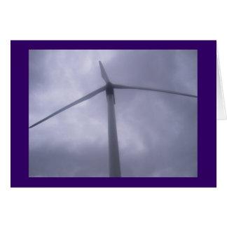 Cartão vazio do moinho de vento