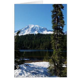 Cartão vazio do Monte Rainier
