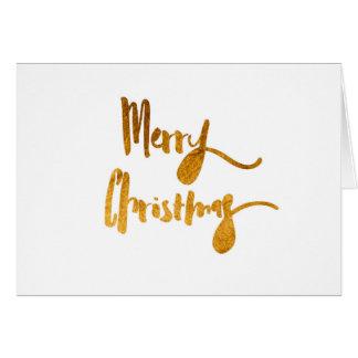 Cartão vazio do ouro do Feliz Natal