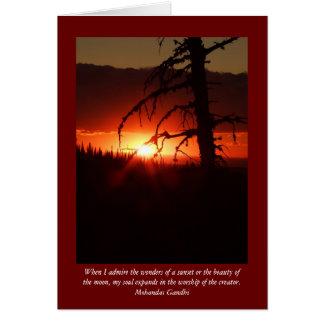 Cartão vazio do por do sol de Idaho