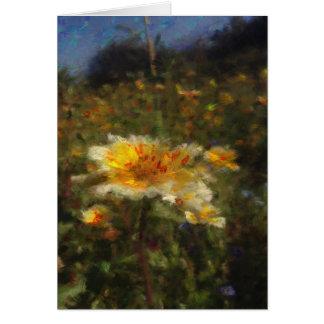 Cartão vazio do prado nativo da flor