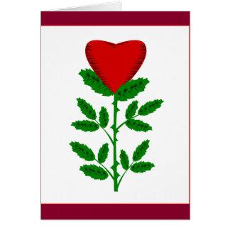 Cartão vazio do rosa dos namorados
