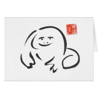Cartão vazio do sapo do zen