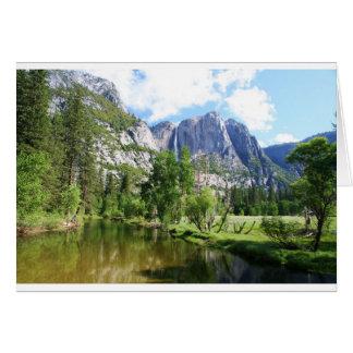 Cartão vazio do vale de Yosemite