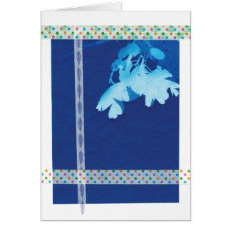 Cartão vazio do visco abstrato