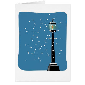 Cartão Vazio do Xmas do feriado do Natal do Lamplight da