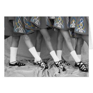 Cartão vazio dos dançarinos macios preto e branco