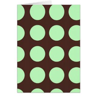 Cartão vazio dos pontos verdes