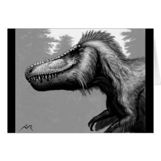 Cartão vazio emplumado do Tyrannosaur