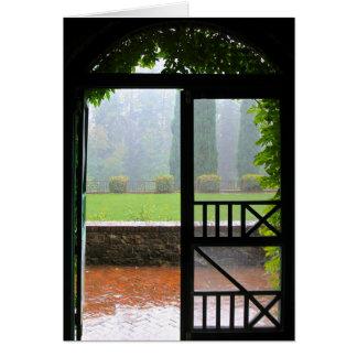 Cartão vazio, entrada da chuva