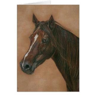 Cartão vazio eqüino da arte do retrato do cavalo