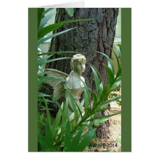 Cartão vazio feericamente do jardim