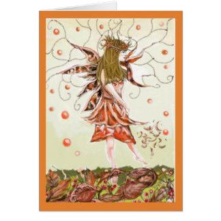 Cartão vazio feericamente do outono