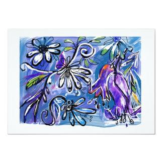 Cartão vazio floral alegre