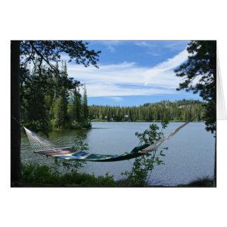Cartão vazio, Hammock no lago